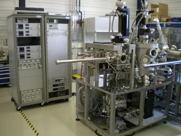 A photo of the ultra-high vacuum system at ANKA, Karlsruhe