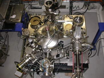A photo of the ultra-high vacuum system at ESRF, Grenoble
